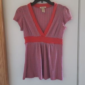 Red and Grey checkered top
